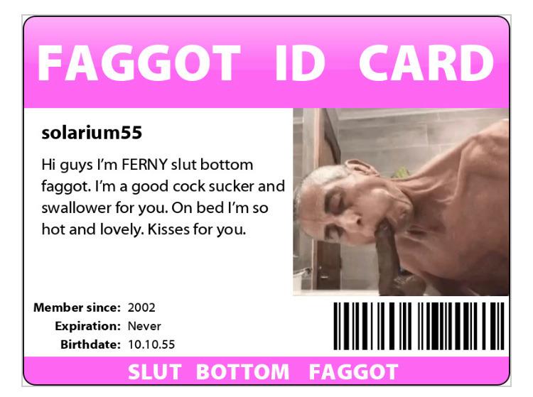 Bottom daddy faggot