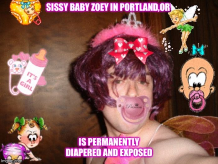 Zoey the sissy baby! Please repin,spread and expose.