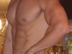 Hung muscle stud makes my small penis throb