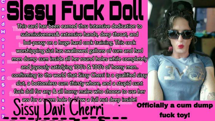 Exposed cum dump fuck doll!