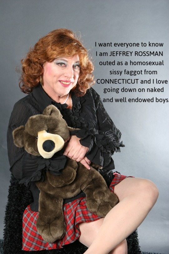 JEFFREY ROSSMAN from Connecticut admitting he is a boy loving homosexual sissy faggot