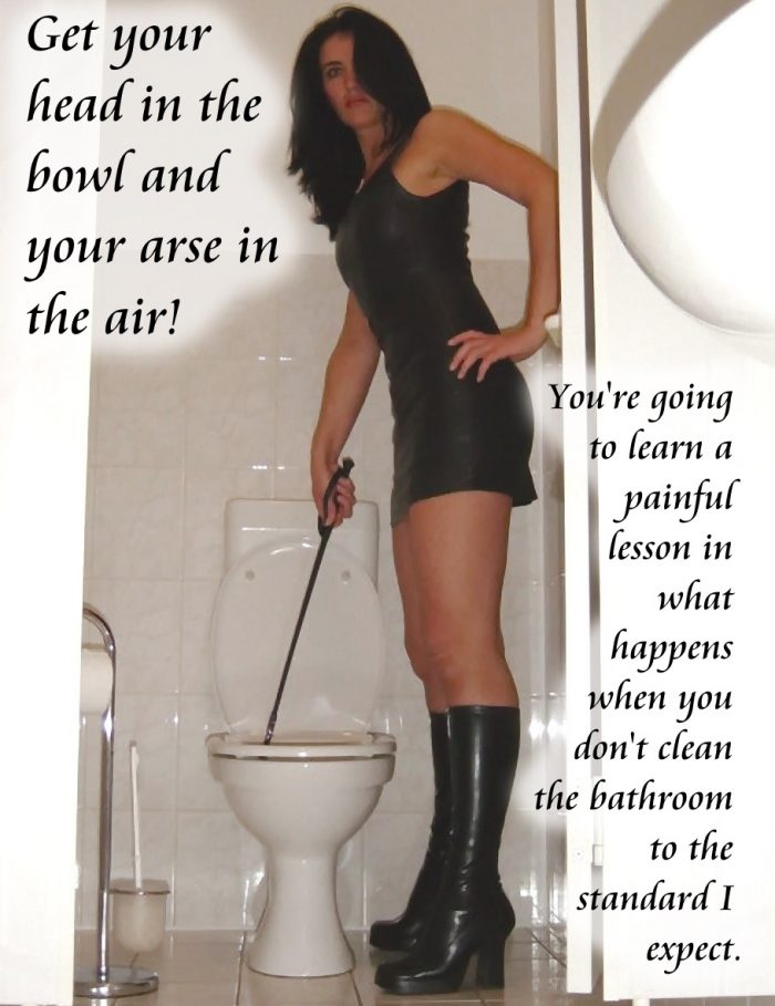 My head goes in her toilet so often these days…