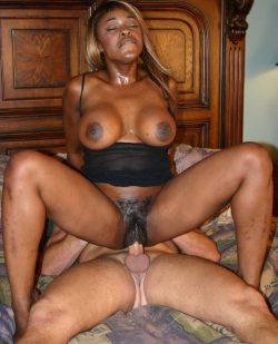 Black housewife riding a big white dick bareback while cuckold watches