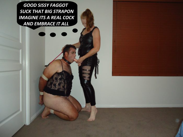 sissy wants to suck a real cock