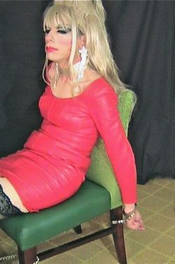 Red leather Dress Handcuffs.