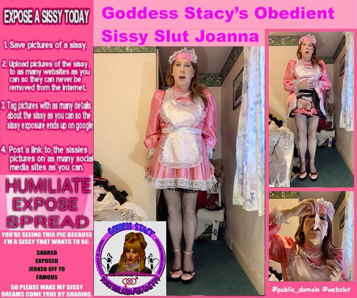 Goddess Stacy's Exposed Sissy Slut Maid