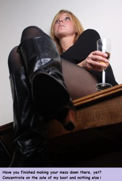 I only take ten seconds, Miss. Yes, I'm done. Thank you for letting me look at your boot w ...