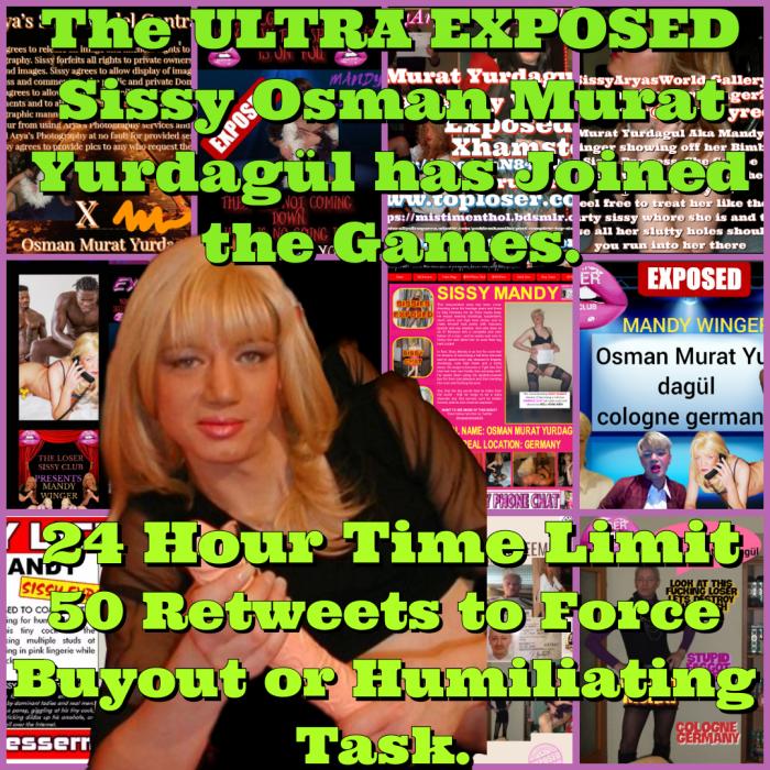 Sissy Murat Yurdaguls Entrance to the Reverse Sissy Blackmail Games Caption