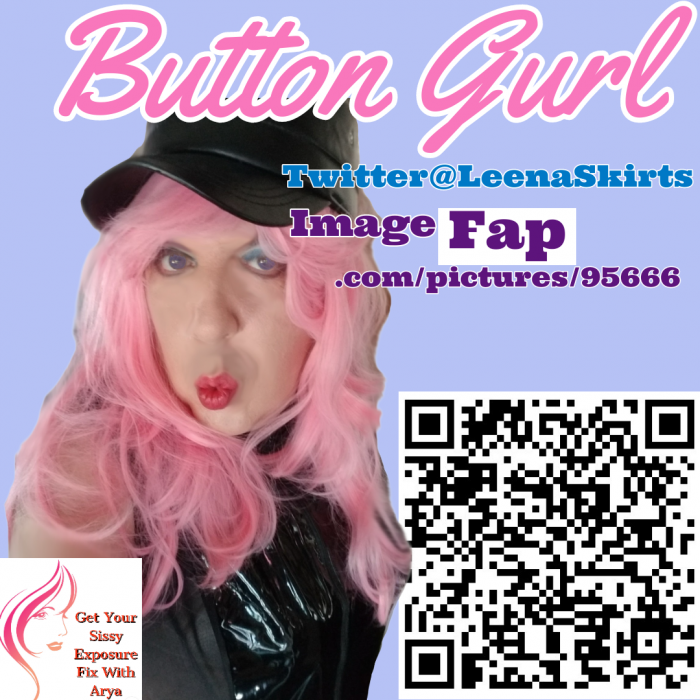 Button Gurl aka LeenaSkirts Exposure Caption