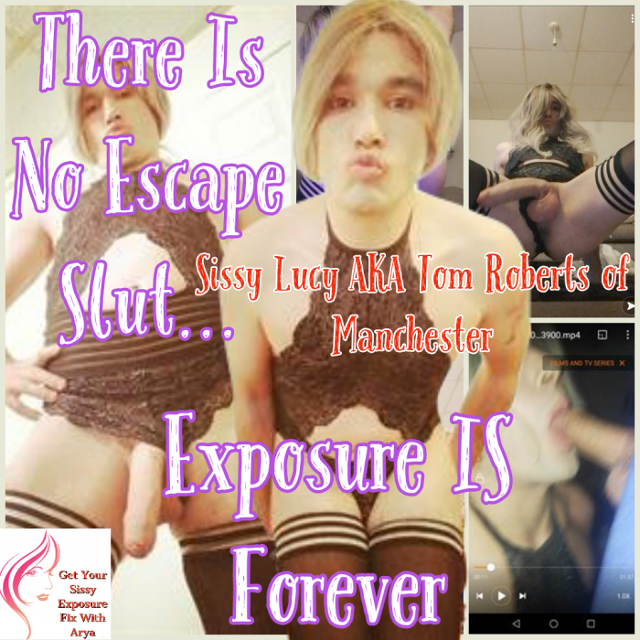 Exposure is Forever Sissy Caption