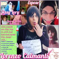Sissy Lory aka Lorenzo Calmanti Exposed.