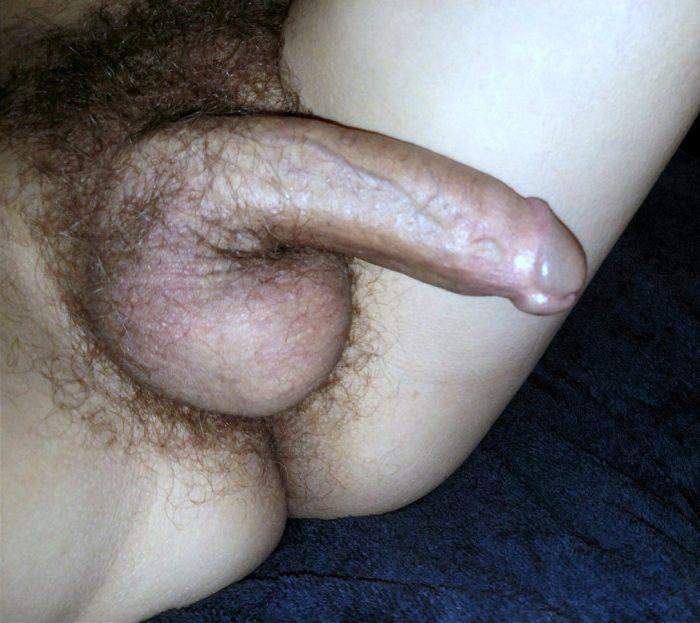 My hairy cock.