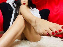 Asian feet POV tease for foot slaves