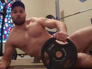 White daddy jacking his big cock on cam