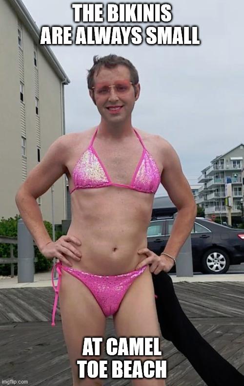 Bikinis are always small at Camel Toe Beach