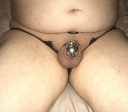 What lies beneath the unzipped leather panties…