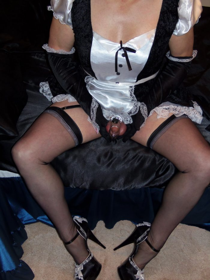 French Maid in Chastity