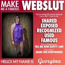 Sissy Georgina wants to be a Webslut
