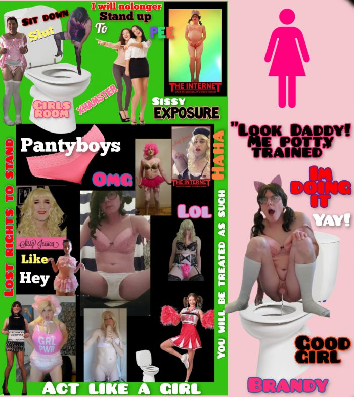 Sissy Brandy Star learns how to potty