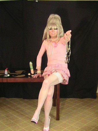 Pink Dress Leg Cuffs.