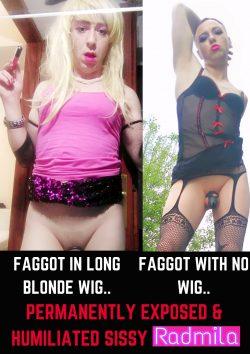 Stupid Fag Whore radmila exposed