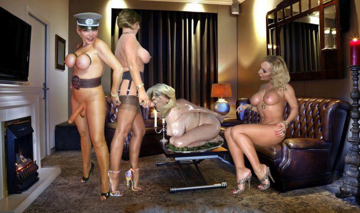 I am sissy-slave for 3 Trans-Mistresses