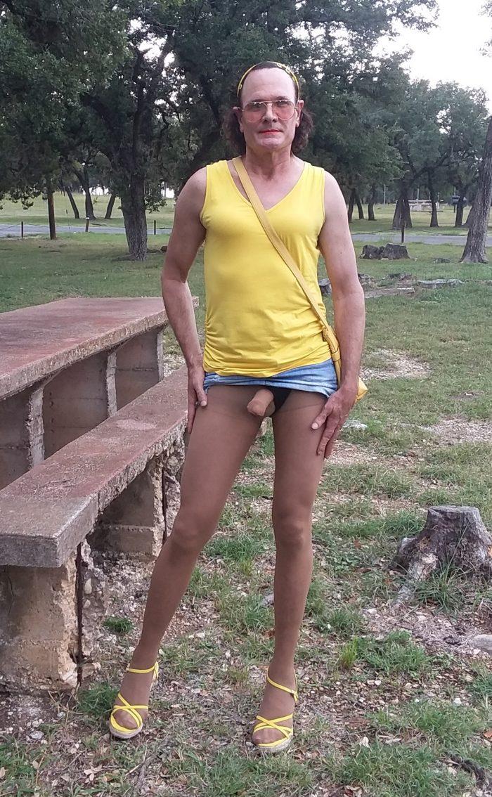 Pantyhosed Sissy