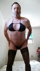 Chris Arey loves cross dressing and fucking his ass with dildos
