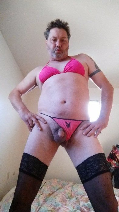 Sissy Chrissy Arey wears lingerie because he has a micro dick