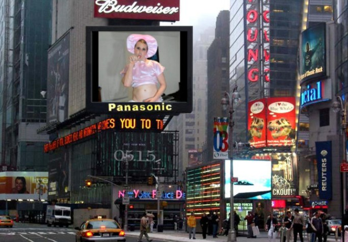 Denver Shoemaker does Times Square