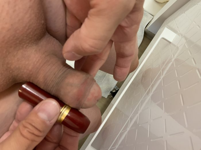 when your penis is smaller than a stick of lipstick 😰😰