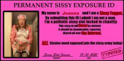 Permanent Exposure ID for Sissy Slut Joanna