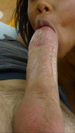 Sucking a lot of white cock lately and loving it