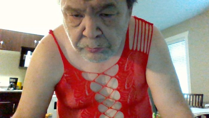 wearing this red dress